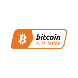 "Bitcoin ATM Inside 3"" x1"" Decal - EMV Decals"